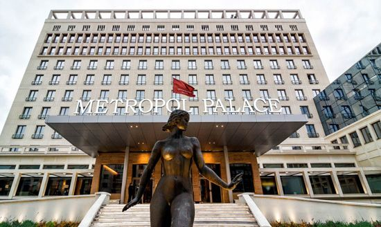 Metropol Palace Beograd - hotel front 2