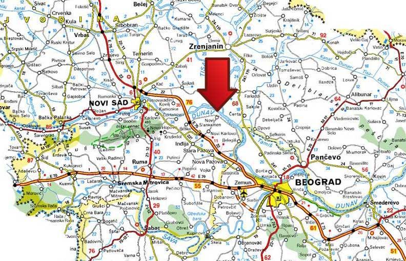 Slankamen Mapa Srbije
